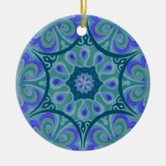 Carousels in Lavender Round Ceramic Decoration