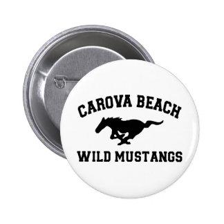 Carova Beach Wild Mustangs Pinback Button