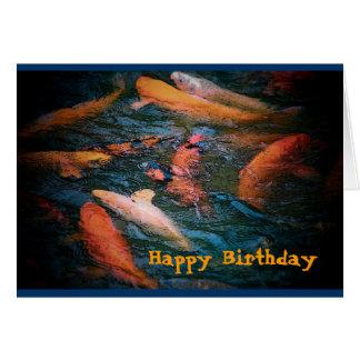Carp Birthday Card