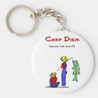 Carp Diem 2 Basic Round Button Key Ring