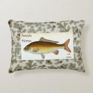 Fish accent cushions fish decorative cushion designs for Decorative carp