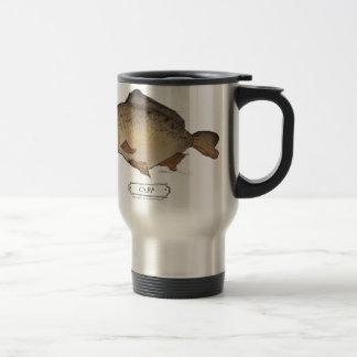 Carp fish, tony fernandes travel mug