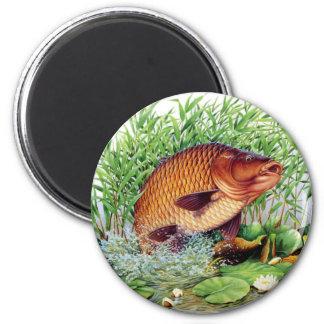 Carp Fishing 6 Cm Round Magnet