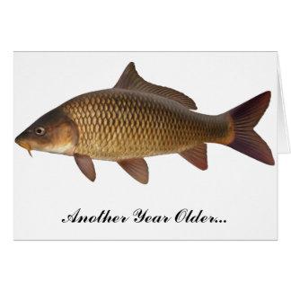 Carp Fishing Birthday Card