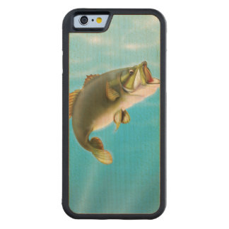 Carp Fishing Carved Maple iPhone 6 Bumper Case