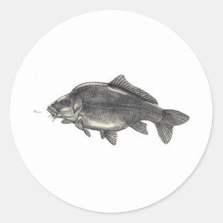 Carp Fishing Classic Round Sticker