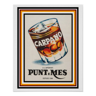 Carpano L'apertif Vintage French Ad Poster 16 x 20