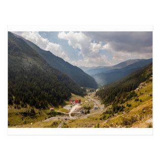Carpathian mountains postcard