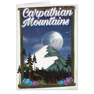 Carpathian Mountains Travel poster Card