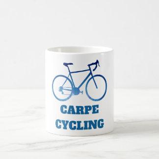 Carpe Cycling, Bicycle Cycling Abstract Coffee Mug