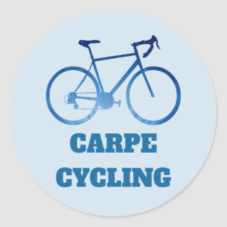 Carpe Cycling, Bicycle Cycling Abstract Stickers