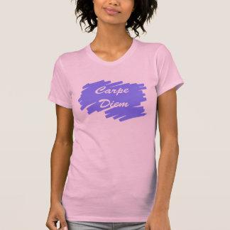 Carpe Diem Blue Background T-Shirt