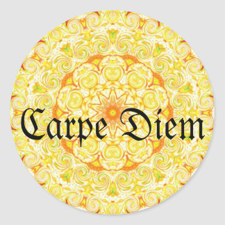 Carpe Diem Classic Round Sticker