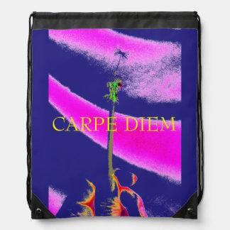 Carpe Diem Drawstring Backpack