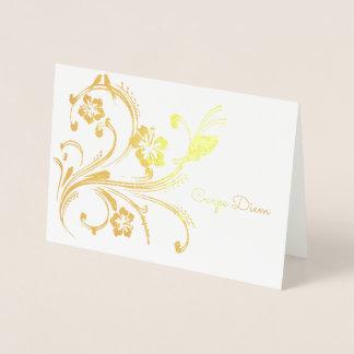 Carpe Diem Foil Card