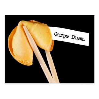 Carpe Diem Fortune Cookie Postcard