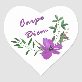 Carpe Diem Heart Sticker