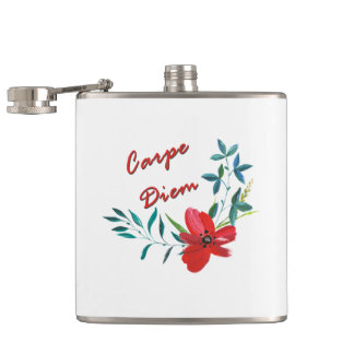 Carpe Diem Hip Flask