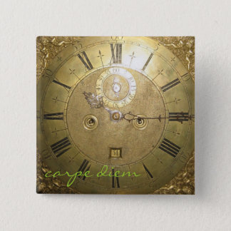 carpe diem II 15 Cm Square Badge
