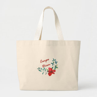 Carpe Diem Large Tote Bag