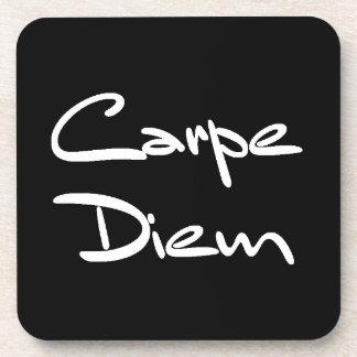 CARPE DIEM Modern Cool Text Coaster