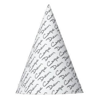 CARPE DIEM Modern Cool Text Party Hat
