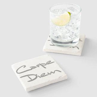 CARPE DIEM Modern Cool Text Stone Coaster