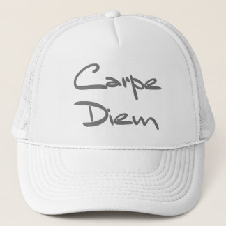 CARPE DIEM Modern Cool Text Trucker Hat