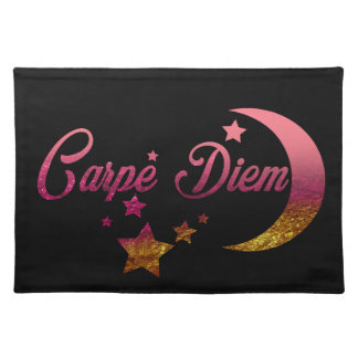 Carpe Diem Moon and Stars Placemat