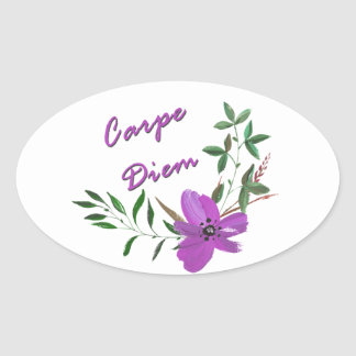Carpe Diem Oval Sticker