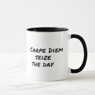 Carpe Diem phrase MUG