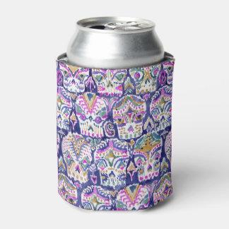Carpe Diem Purple Boho Sugar Skull Can Cooler