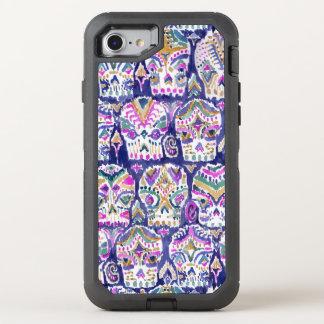 Carpe Diem Purple Boho Sugar Skulls OtterBox Defender iPhone 8/7 Case