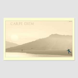 Carpe Diem Rectangular Sticker