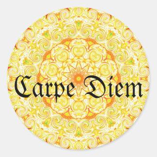 Carpe Diem Round Sticker