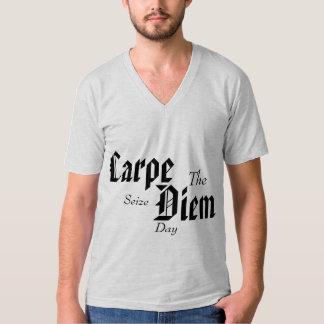 "Carpe Diem ""Seize the day"" V-neck tee"