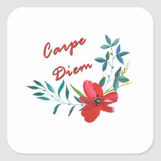 Carpe Diem Square Sticker