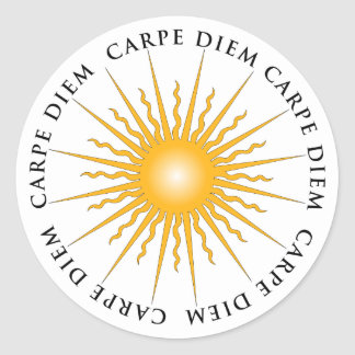 Carpe Diem Sun Classic Round Sticker