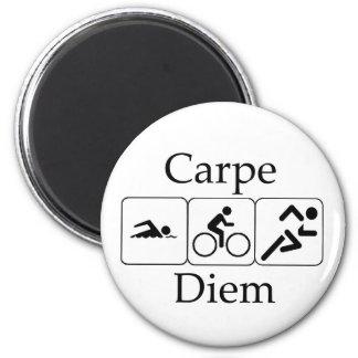 Carpe Diem Triathilon Fridge Magnets