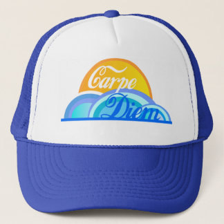 Carpe diem Trucker Baseball Hat / Motivational