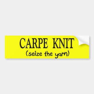 Carpe Knit   (Seize the Yarn) Knitter Gifts Bumper Sticker
