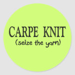 Carpe Knit   (Seize the Yarn) Knitter Gifts Stickers