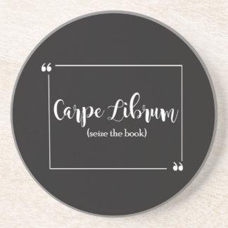 Carpe Librum Coaster