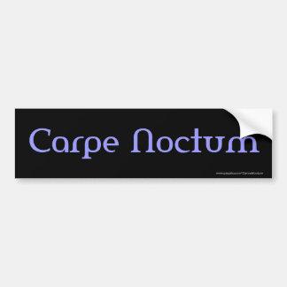 Carpe Noctum (blue) Bumper Sticker