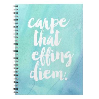 Carpe That Effing Diem | Aqua Notebook
