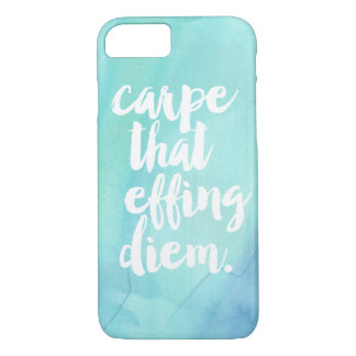Carpe That Effing Diem Phone Case | Aqua