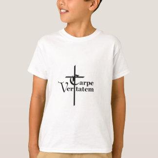 Carpe Veritatem with Cross T-Shirt
