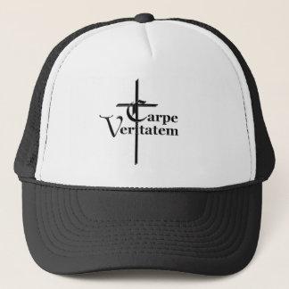 Carpe Veritatem with Cross Trucker Hat