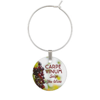 Carpe Vinum Seize The Wine Wine Glass Charm