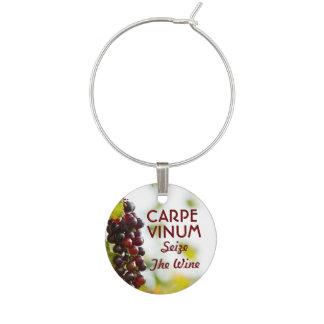 Carpe Vinum Seize The Wine Wine Glass Charm